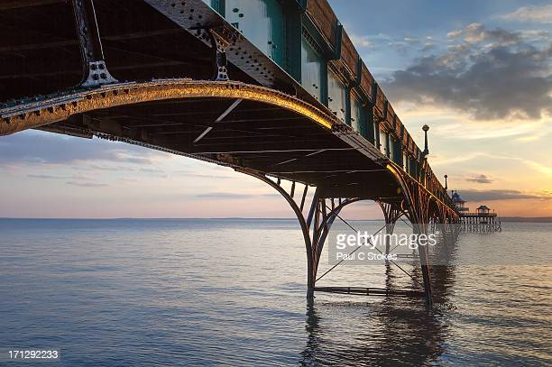 the other side - clevedon pier stock pictures, royalty-free photos & images