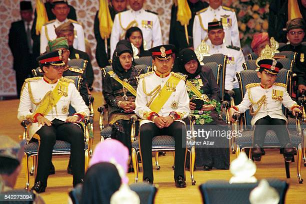The other sons of the Sultan, Princes Abdul Azim, Abdul Malik & Abdul Matine sunk into his chair.