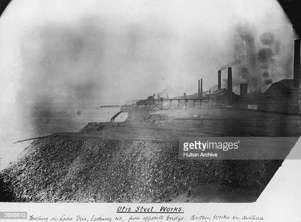 The Otis Steelworks on the shore of Lake Erie
