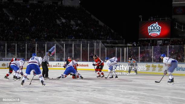 The Ottawa Senators take on the Montreal Canadiens in the 2017 Scotiabank NHL100 Classic at Lansdowne Park on December 16 2017 in Ottawa Canada