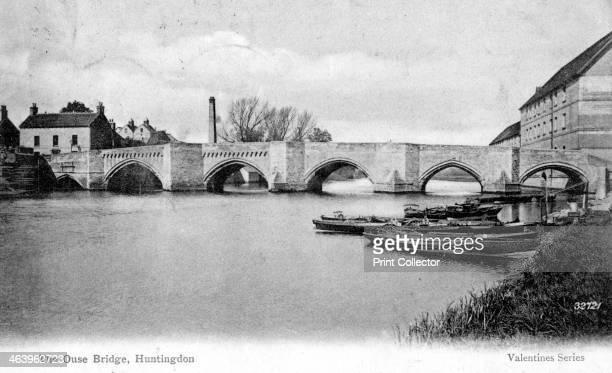 The Ouse Bridge Huntingdon Cambridgeshire 1905