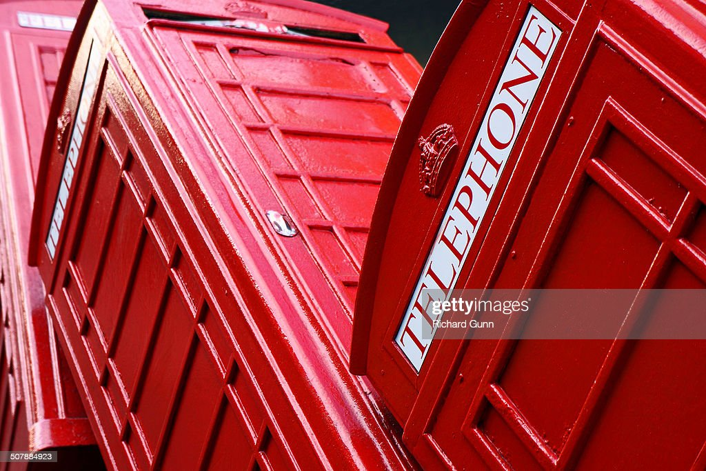 Toppled Telephone Boxes : News Photo