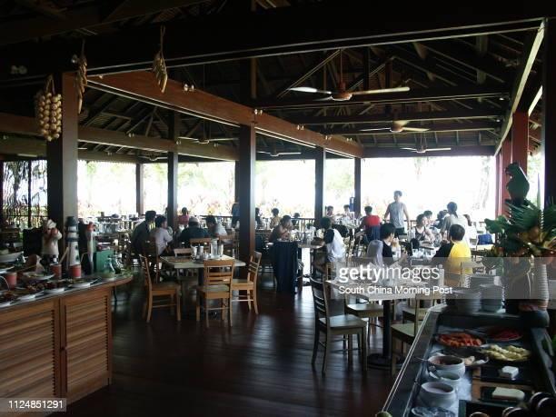 14 The outdoor BBQ restaurant at Club Med Cherating Beach resort near Kuantan on the east coast of the Malaysian Peninsula