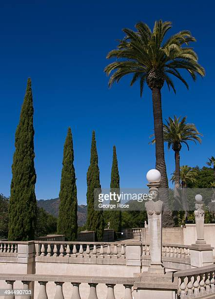 The outdoor gardens at Hearst Castle are viewed on May 11 in San Simeon California Hearst Castle built by newspaper publisher William Randolph Hearst...