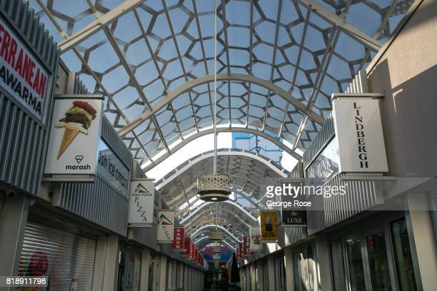 The outdoor shopping mall at Bally's Hotel Casino located at the corner of Flamingo Road and Las Vegas Blvd is viewed on July 13 2017 in Las Vegas...