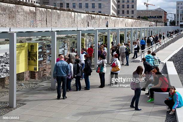 The outdoor Topography of Terror Museum on the site of the former Nazi Gestapo Headquarters in Berlin