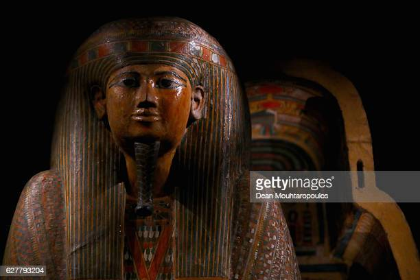 The outer coffin of Anchefenchonsoe displayed in part in the permanent Egyptian collection and also part of the 'Queens of the Nile' Exhibition held...