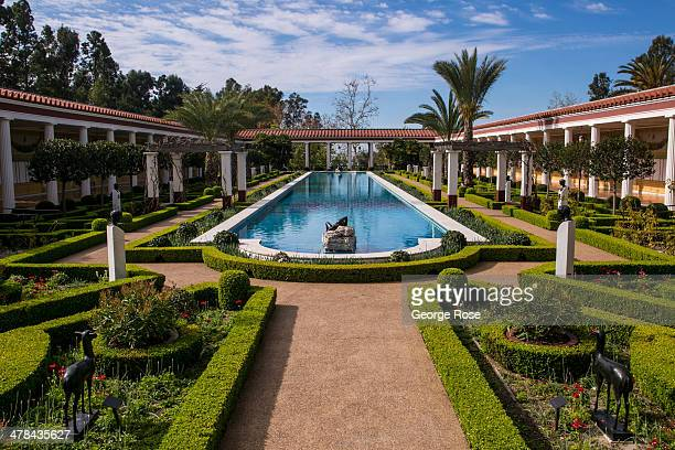 The Outer Peristyle of the J Paul Getty Villa Museum is viewed on March 3 in Malibu California Perched on a hillside above the Pacific Ocean this...