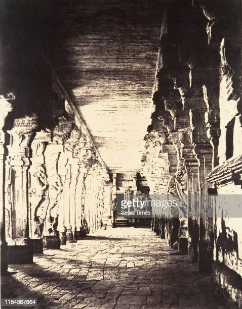 The Outer Prakarum, or Corridor Around the Temple of the God Sundareshawara, January-March 1858, Albumen silver print from dry collodion on glass...