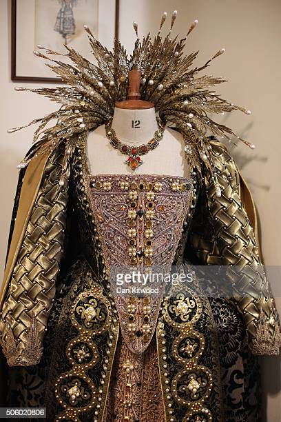 The outfit worn by Judi Dench in the film Shakespeare in Love is displayed at Angels Costume House on January 20 2016 in London England Angels...