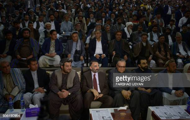 The outgoing governor of the northern Afghan province of Balkh Atta Mohammad Noor looks on before delivering a speech to supporters in MazariSharif...