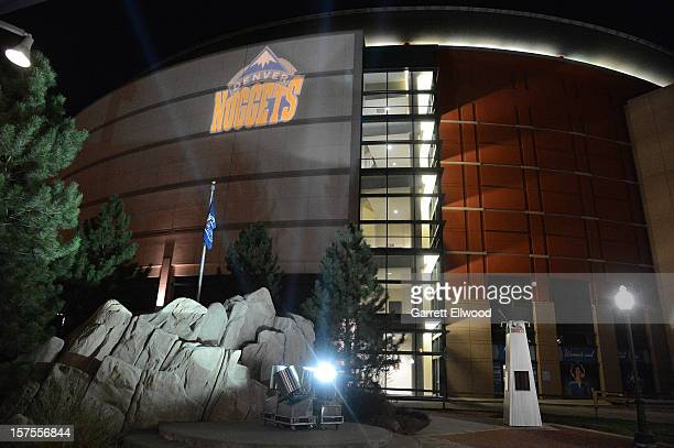 The outisde of the Pepsi Center during the game that included the Denver Nuggets and the Detroit Pistons on November 6 2012 at the Pepsi Center in...