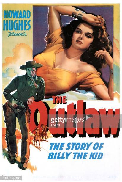 The Outlaw poster Jack Buetel Jane Russell 1943