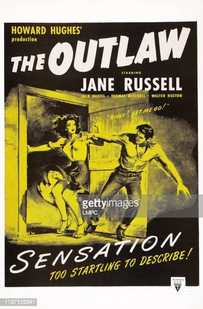 Jane Russell Jack Buetel on poster art 1943