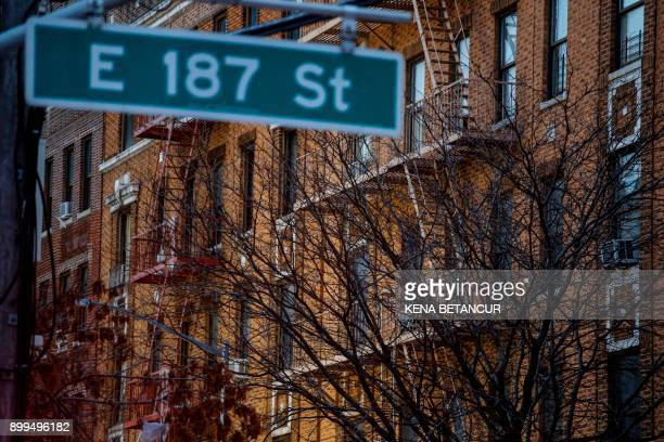 The outside of an apartment where a fire took place is seen in the Bronx borough of New York City on December 29 2017 Officials said Friday that the...