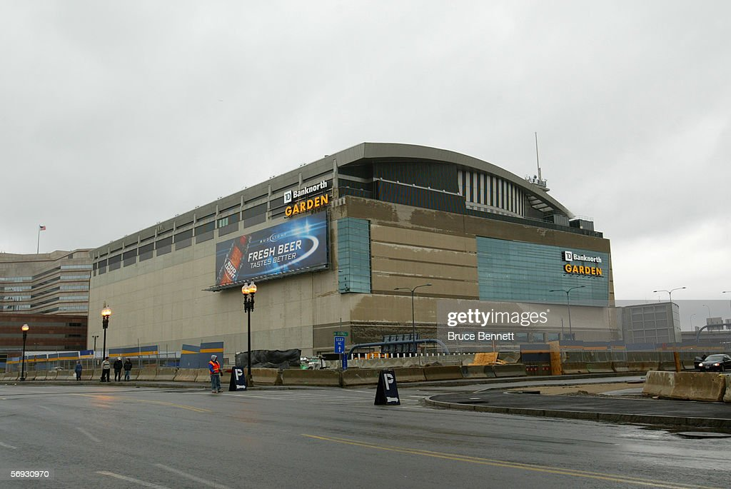 The Outside Of TD Banknorth Garden Is Shown Before The Boston Bruins Game  Against The Carolina