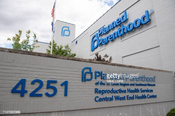 The outside of the Planned Parenthood Reproductive Health Services Center is seen in St. Louis, Missouri, May 30 the last location in the state...