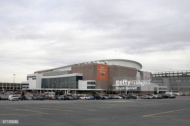 The outside of the Wachovia Center is shown before the Philadelphia Flyers game against the Montreal Canadiens on March 6 2006 at the Wachovia Center...