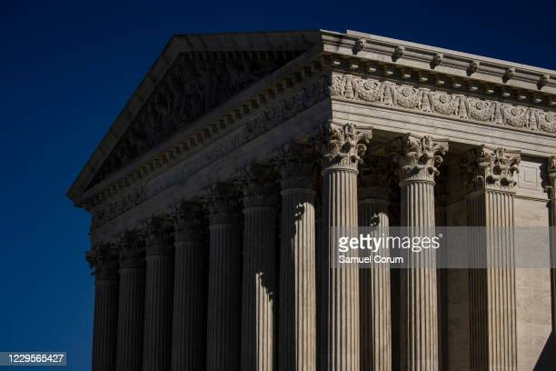 The outside Supreme Court of the United States is seen as it begins hearing arguments from California v. Texas about the legality of the Affordable...
