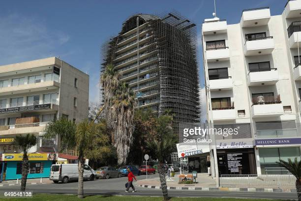 The Oval a new commercial property development stands under construction on March 8 2017 in Limassol Cyprus Cyprus has largely recovered from its...