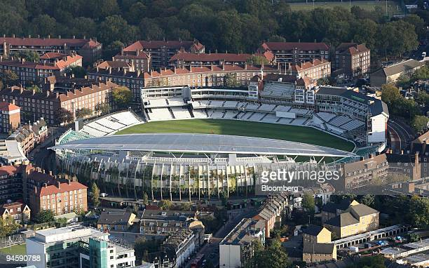 The Oval cricket ground is seen in this aerial photograph taken over London, U.K., Thursday, November 9, 2006.