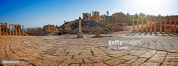 The Oval Forum in Ancient Jerash