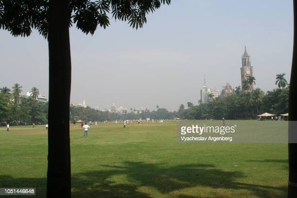 the oval maidan recreational field, mumbai, india - argenberg stock pictures, royalty-free photos & images