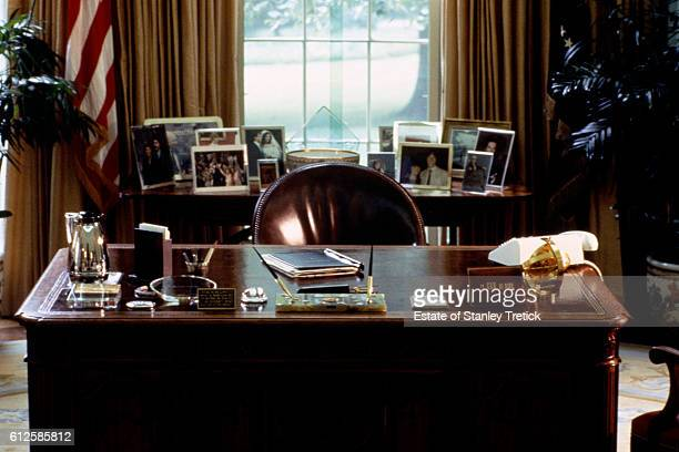 The Oval Office of American president Ronald Reagan at the White House