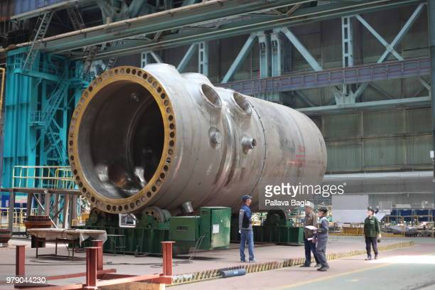The over 300 ton reactor pressure vessel. An inside look at the mega manufacturing facility of Atomenergomash a subsidiary of Rosatom the Russian...