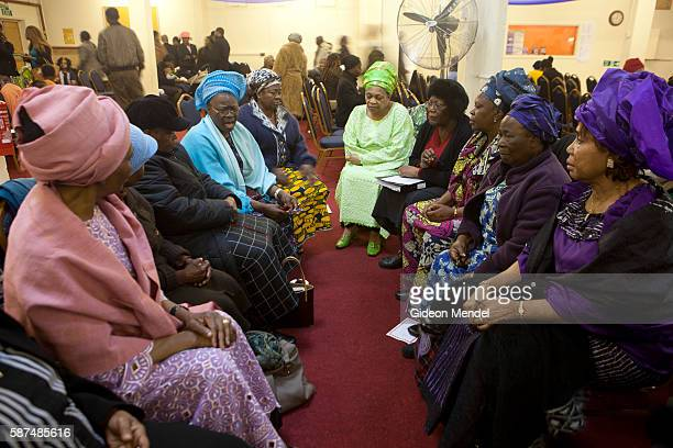 The over 60s womens group meets at the Mountain of Fire and Miracles Ministries Church shortly after their Sunday service This Pentecostal church has...