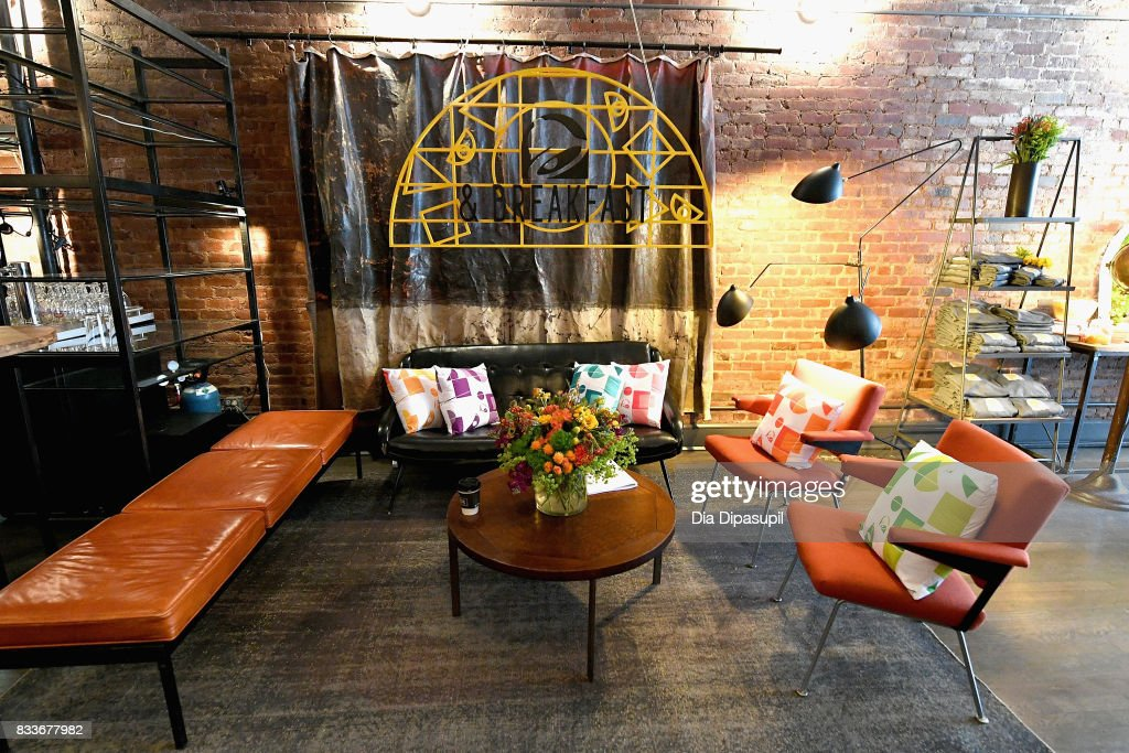 The overall general view of atmosphere at the 'Bell & Breakfast' event hosted by Taco Bell to give fans the chance to try the new Naked Egg Taco on August 17, 2017 in New York City.