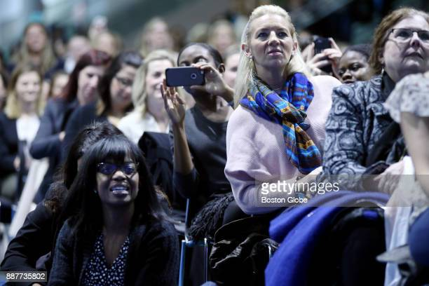 The overflow crowd takes to sitting on the floor and standing to see an appearance by Bethenny Frankel during 'The Cocktail for Success A...