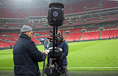 london england overhead television camera is