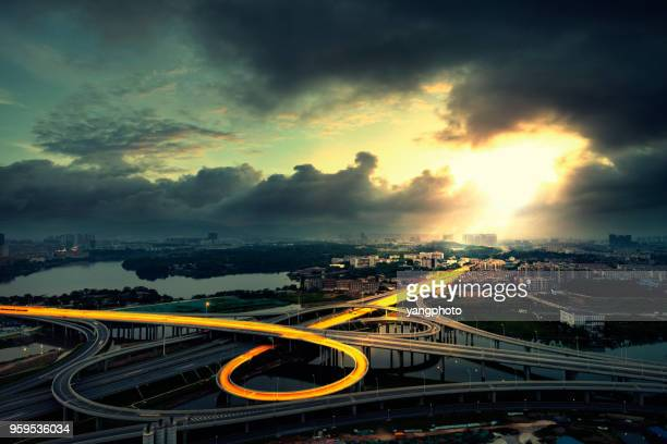 the overpass - connection stock pictures, royalty-free photos & images