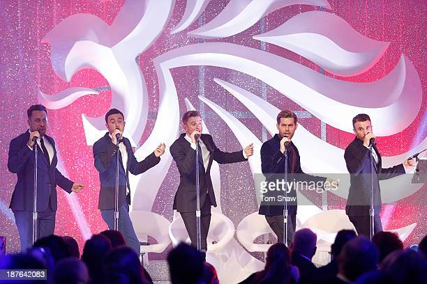 The Overtones perform during the British Olympic Ball at The Dorchester on October 30 2013 in London England