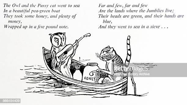The owl and the Pussycat caracaters by Edward Lear English artist illustrator author and poet and is known now mostly for his literary nonsense in...