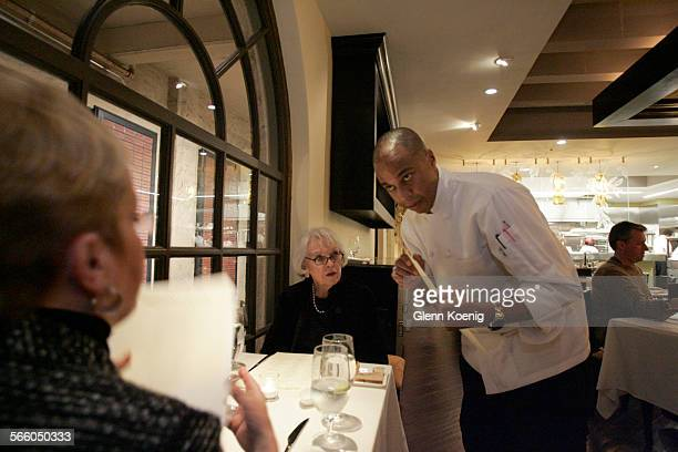 The owner and chef Onil Chibás talks with customers at Elements restaurant in Pasadena on January 28 2010 Onil Chibás and Alberto Morales the chefs...
