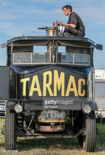 The owner of a steam powered wagon polished the brasses during the final day of the Whitby Traction Engine Rally on August 5, 2018 in Whitby,...