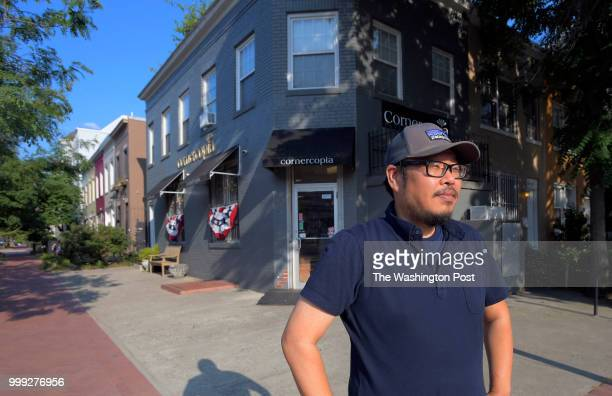 The owner of Cornercopia Albert Oh stands in front of his store at the corner of 3rd and K Streets SE Story is about the massive change in the...