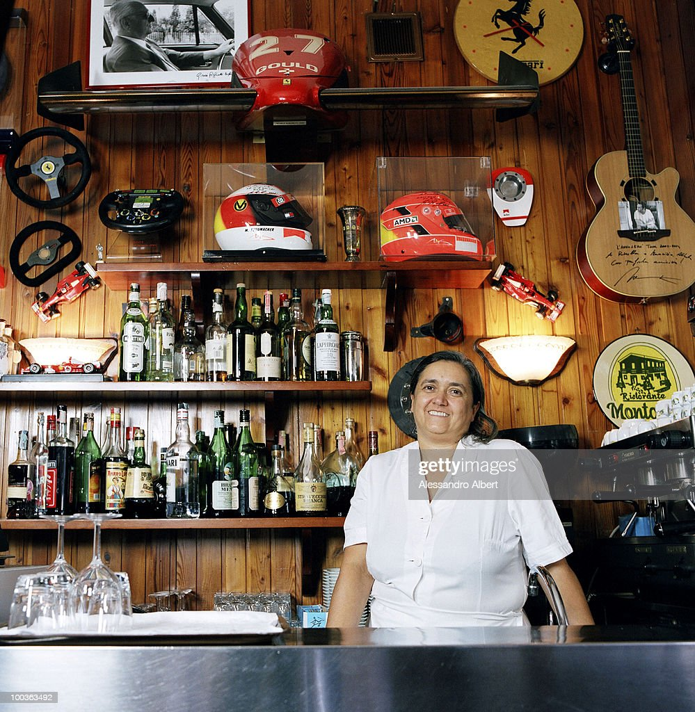 The owner of the restaurant Montana, Rossella Giannini pose for a portraits session in the restaurant
