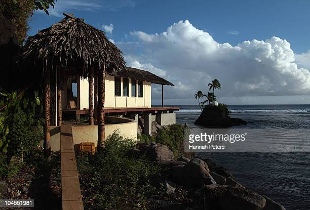 The owners house is rebuilt at the Seabreeze Resort in Matatufu on September 29, 2010 in Apia, Samoa. 189 people were killed and hundreds more...