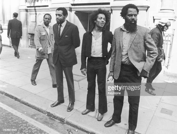 The owners of the Mangrove restaurant in Notting Hill after their court appearance at Kensington Petty Sessions 15th August 1970 from left to right...