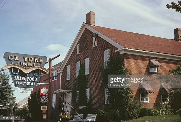 The Ox Yoke Inn in Amana Iowa serving 'Amana Food Family Style' 1961