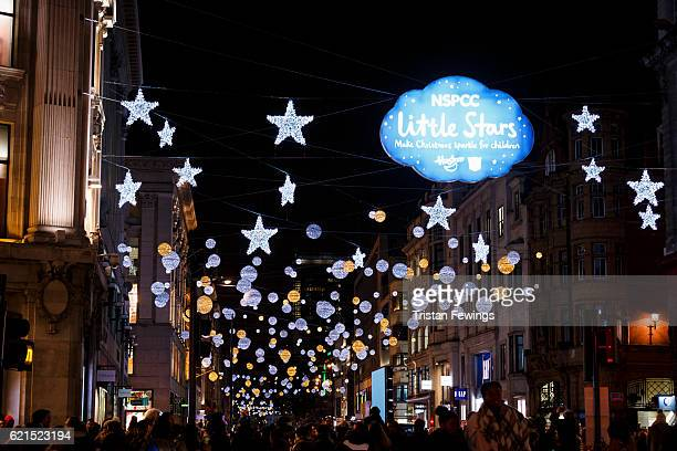 The Oxford Street Christmas Lights at Oxford Street on November 6 2016 in London England