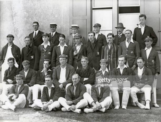 The Oxford Univeristy cricket team and the Australia cricket team prior to their twoday match at The Parks in Oxford on 25th May 1921 The match was...