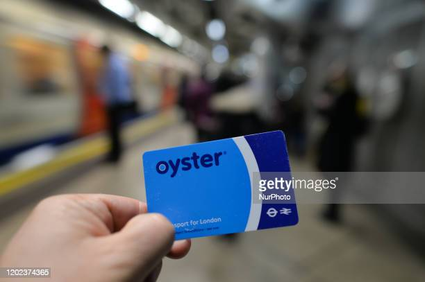 The Oyster card, a payment method for public transport in London. On Saturday, 25 January 2019, in London, United Kingdom.