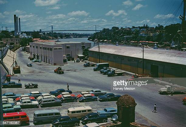 The Ozama River as seen from the Alcazar De Colon or Columbus Alcazar in Ciudad Trujillo in the Dominican Republic 1960