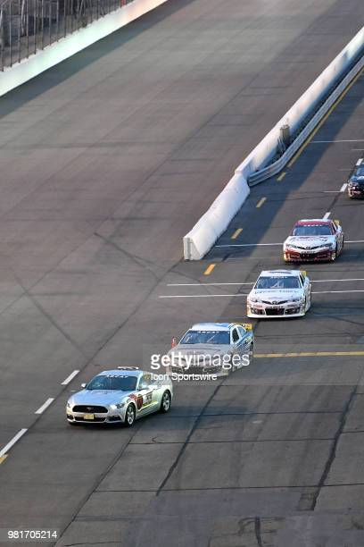 The pace car leads the drivers on to the track before the start of the ARCA Racing Series PapaNicholas Coffee 150 on June 22 at Gateway Motorsports...