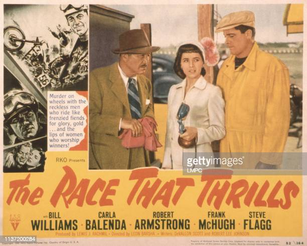 The Pace That Thrills US lobbycard Bill Williams cheek to cheek from left Bill Williams Carla Balenda center from left Robert Armstrong Carla Balenda...