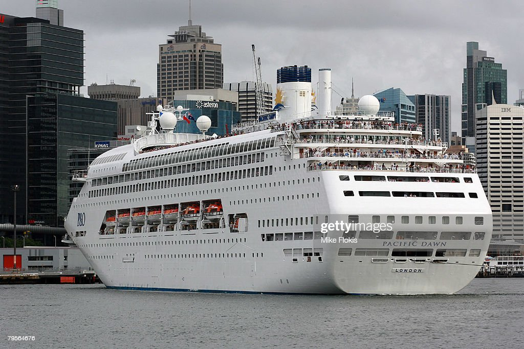 The Pacific Dawn P&O cruise ship docks at Circular Quay during the Australia Day celebrations on January 26, 2008 in Sydney, Australia.